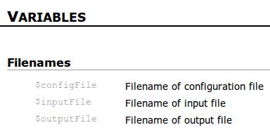 NaturalDocs - Variablen zusammenfassend dokumentiert